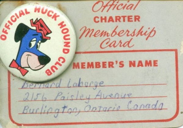 Huck Hound card