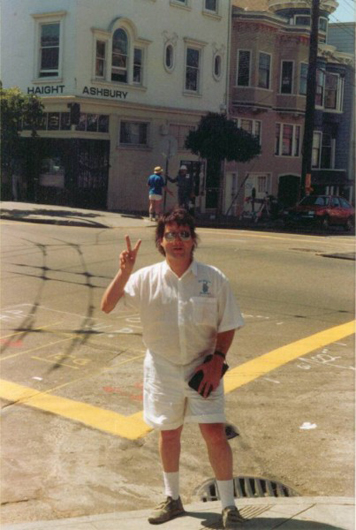 Me at Haight Ashbury 1988