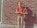 Me and baseball trophy